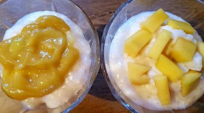 Tapioca Pudding with Mango topping – AIP and Paleo