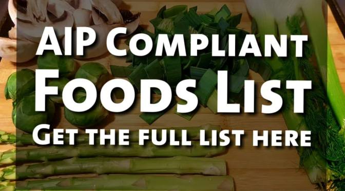 AIP – 30 Day Reset Phase – Allowed and Banned Foods
